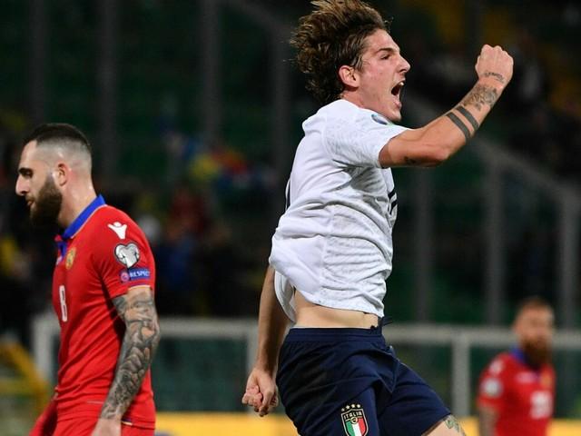 Euro 2020, l'Italia travolge l'Armenia per 9 a 1. Azzurri inarrestabili: conquistano l'11 vittoria di fila e segnano un nuovo record