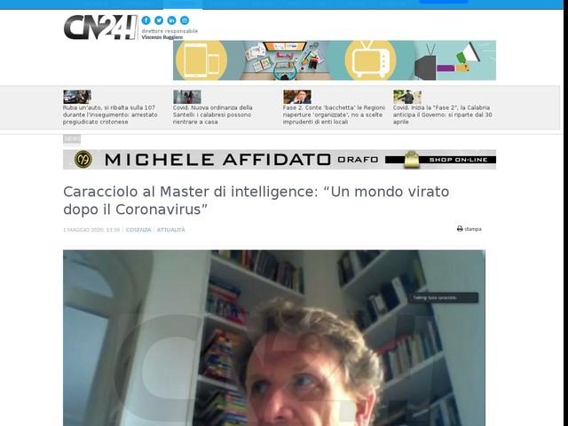 """Caracciolo al Master di intelligence: """"Un mondo virato dopo il Coronavirus"""""""