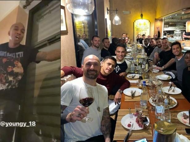 Young si presenta all'Inter cantando Bob Marley: il video su Instagram