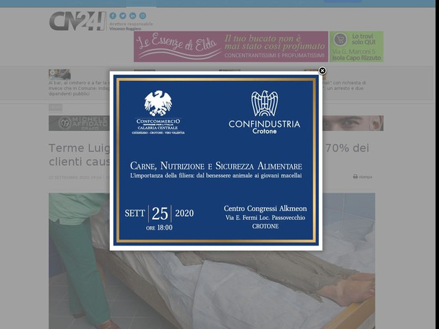 Terme Luigiane verso la chiusura, crollo di oltre il 70% dei clienti causa pandemia