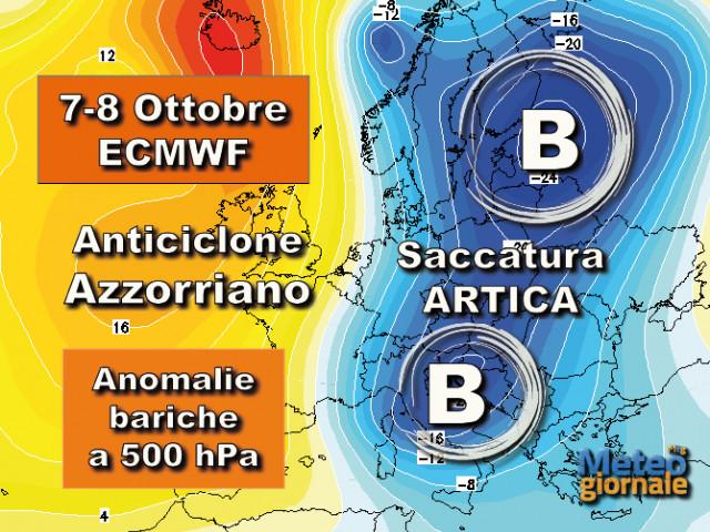 Meteo svolta: dal 7 ottobre inizia una fase autunnale più fredda