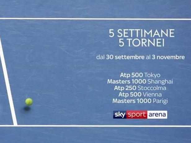 Verso Finals. Su Sky 34 giorni di tennis non stop