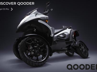 Qooder: uno scooter a quattro ruote che può affrontare anche le buche