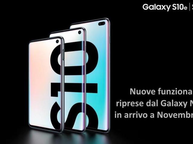 Galaxy S10 ottiene nuove funzioni riprese dal Galaxy Note 10 a novembre 2019