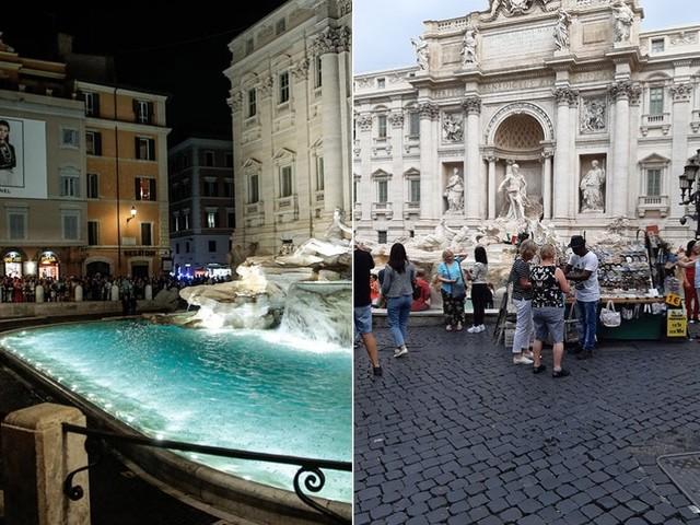 Roma, nuove luci a Fontana di Trevi. Ma il giorno dopo è ancora suk