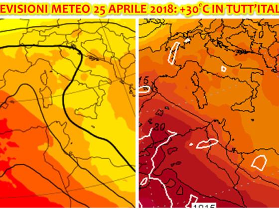 """Previsioni Meteo per il Ponte del 25 Aprile, sarà una """"Festa della Liberazione"""" dal sapore di Ferragosto"""