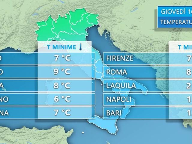 METEO - CLIMA FRIZZANTE per metà Maggio. Le TEMPERATURE attese sull'Italia.