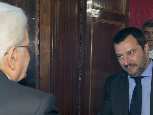 Salvini sale al Colle sperando ancora nel voto