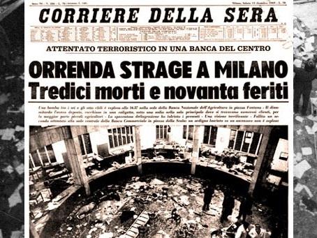 12 dicembre. 48 anni fa la strage fascista di Piazza Fontana