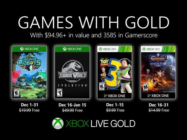 Games with Gold: annunciati i giochi gratuiti del mese di dicembre