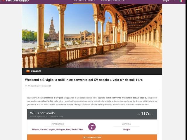Weekend a Siviglia: 3 notti in ex convento del XV secolo + volo a/r da soli 117€