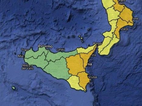 Maltempo, ancora pioggia e temporali: allerta arancione nella Sicilia orientale