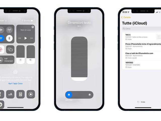 Come regolare la dimensione del testo per ciascuna delle app installate