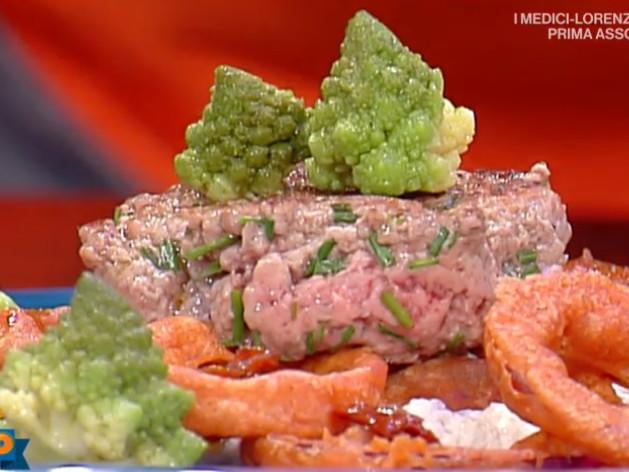 La prova del cuoco oggi, hamburger su spuma di burrata e acciughe con broccolo di Emilio Signori