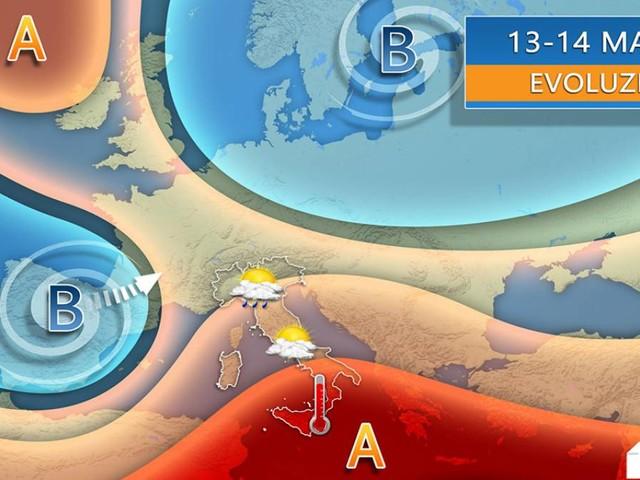 METEO, ITALIA divisa in due tra mercoledì e giovedì. INSTABILITÀ con TEMPORALI al Nord, ANTICICLONE AFRICANO al Sud. I dettagli