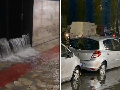 """Bomba d'acqua a Roma. Repubblica e Manzoni chiuse, """"cascate"""" a Termini"""