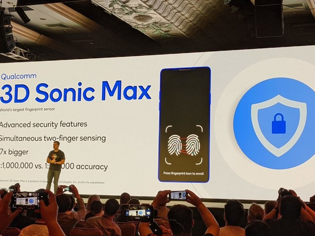 """Qualcomm """"3D Sonic Max"""": sensore di impronte a ultrasuoni 17 volte più grande"""