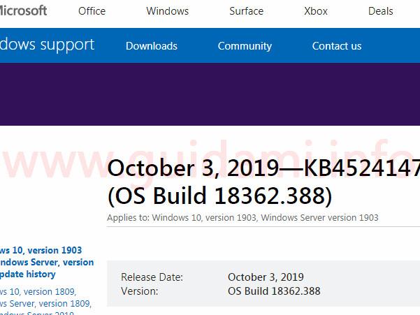 Windows 10 disponibile il nuovo aggiornamento cumulativo di settembre 2019 per tutte le versioni supportate