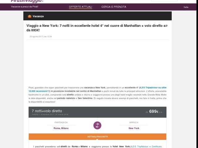 Viaggio a New York: 7 notti in eccellente hotel 4* nel cuore di Manhattan + volo diretto a/r da 693€!