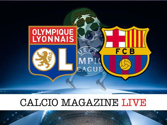 Lione – Barcellona: cronaca diretta live, risultato in tempo reale