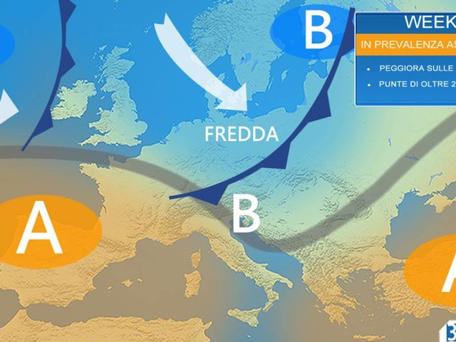 Meteo Weekend Italia: sabato e domenica in prevalenza asciutti, fino a 23-24°C