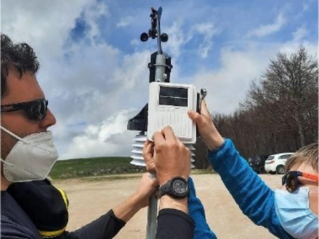 Stazione meteorologica a Monte Piselli