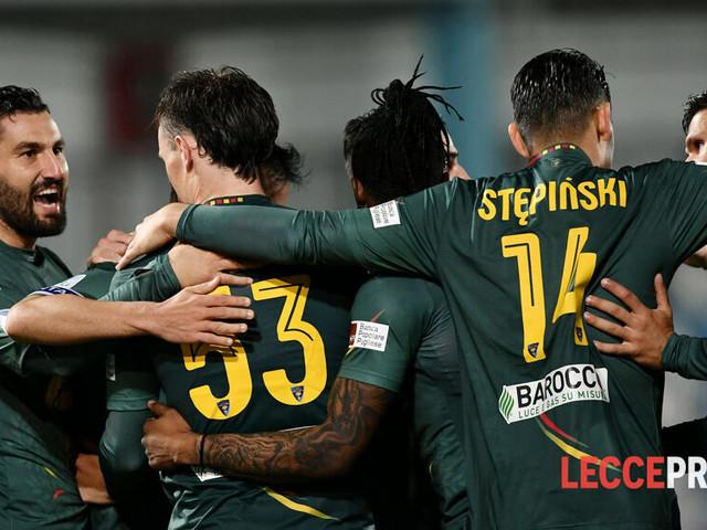 Prima l'attesa, poi il piacere: il Lecce affossa la Virtus Entella per 5 a 1