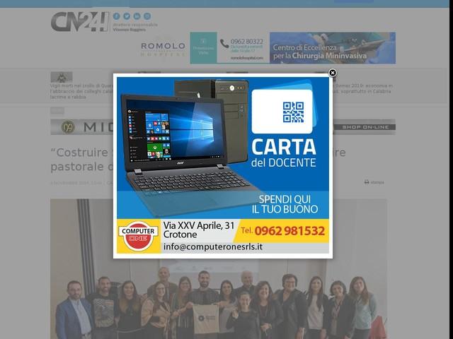 """""""Costruire Speranza 2"""": convegno sul tema """"L'agire pastorale delle chiese in Calabria"""""""