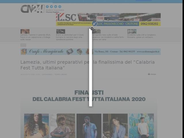 """Lamezia, ultimi preparativi per la finalissima del """"Calabria Fest Tutta Italiana"""""""