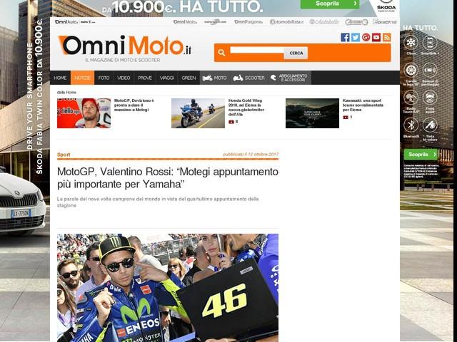 "MotoGP, Valentino Rossi: ""Motegi appuntamento più importante per Yamaha"""