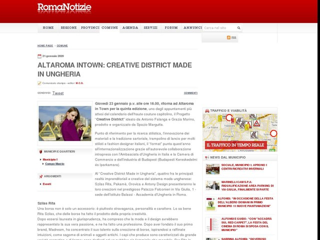 ALTAROMA INTOWN: CREATIVE DISTRICT Made in Ungheria