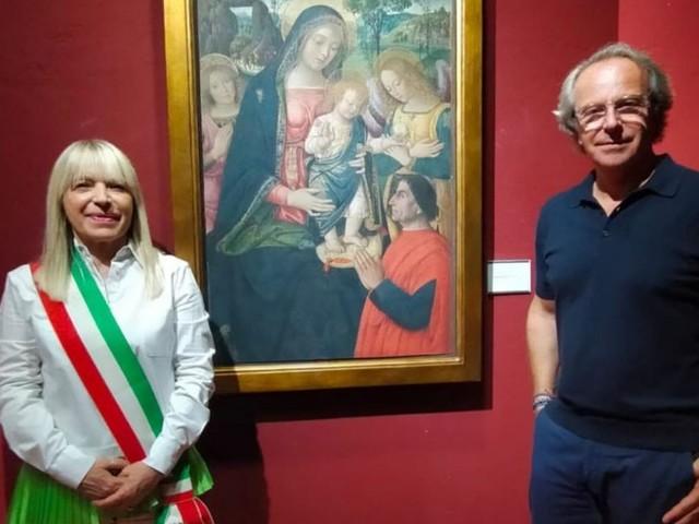 San Severino, Andrea Della Valle in visita in città: tappa alla pinacoteca e in piazza