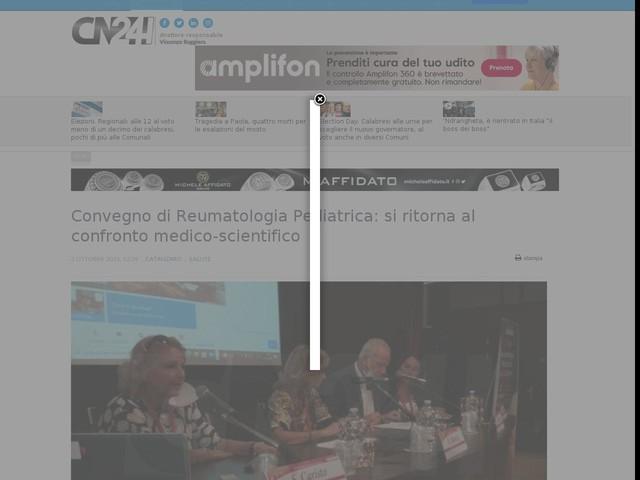 Convegno di Reumatologia Pediatrica: si ritorna al confronto medico-scientifico