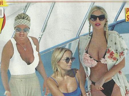 Francesca Cipriani ed Elena Morali, lavoro e vacanze con Francesca Pascale in Sardegna