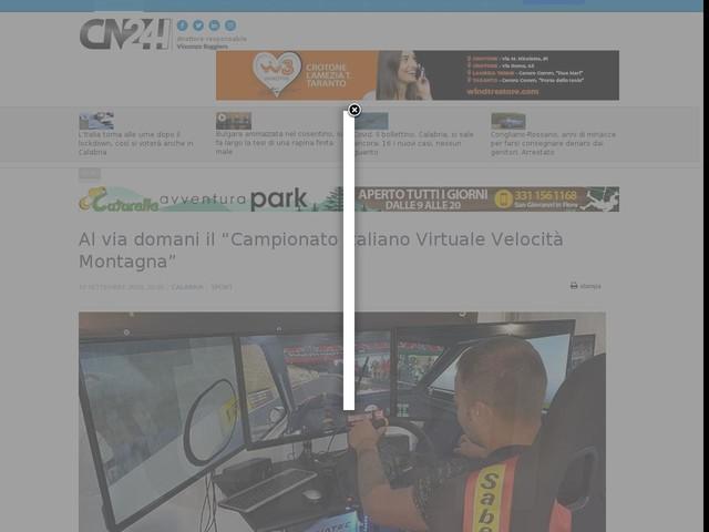 """Al via domani il """"Campionato Italiano Virtuale Velocità Montagna"""""""