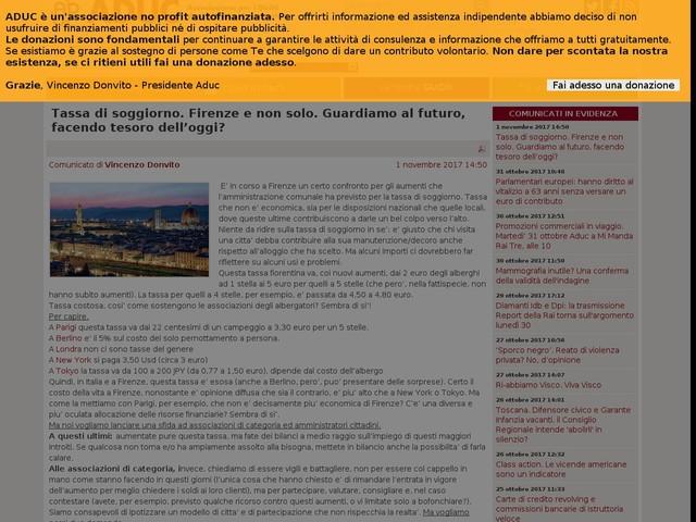 Fisco: a Firenze invalidi esentati da tassa di soggiorno - Cronaca ...
