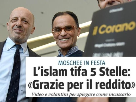 Per Il Giornale l'Islam esulta per il reddito di cittadinanza