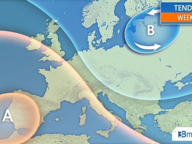 METEO Italia - Weekend e PONTE DEL 25 APRILE con stabilità prevalente e RIALZO TERMICO