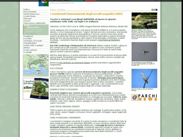 PR Mincio - I censimenti internazionali degli uccelli acquatici (IWC)