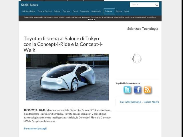 Toyota: di scena al Salone di Tokyo con la Concept-i-Ride e la Concept-i-Walk