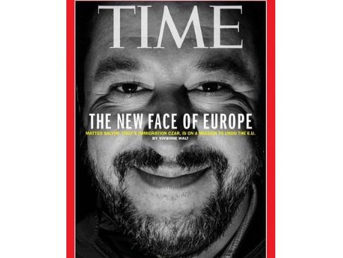 """Matteo Salvini sulla nuova copertina del Time: """"La nuova faccia dell'Europa"""""""