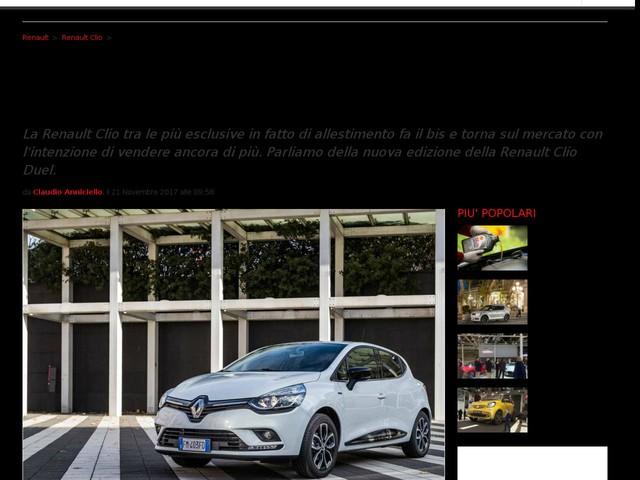 Renault Clio Duel 2018: la Clio più esclusiva arriva alla seconda generazione [FOTO]