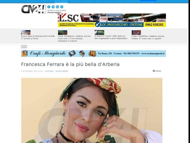 Francesca Ferrara è la più bella d'Arberia