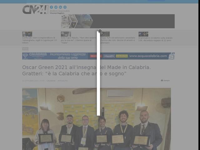"""I vincitori di Oscar Green 2021 all'insegna del Made in Calabria. Gratteri: """"è la Calabria che amo e sogno"""""""