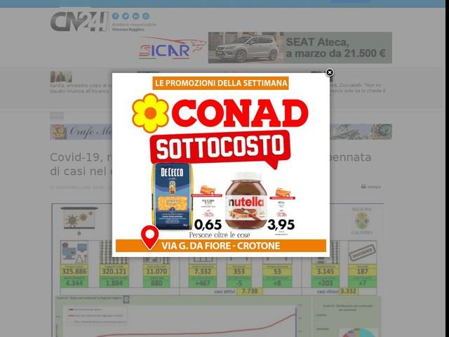 Covid-19, record di contagi in Calabria: +680. Impennata di casi nel crotonese