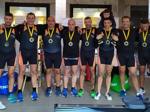 A Trento il record del mondo sui 100 km rowing parla casalese con Grassi e Rivieri