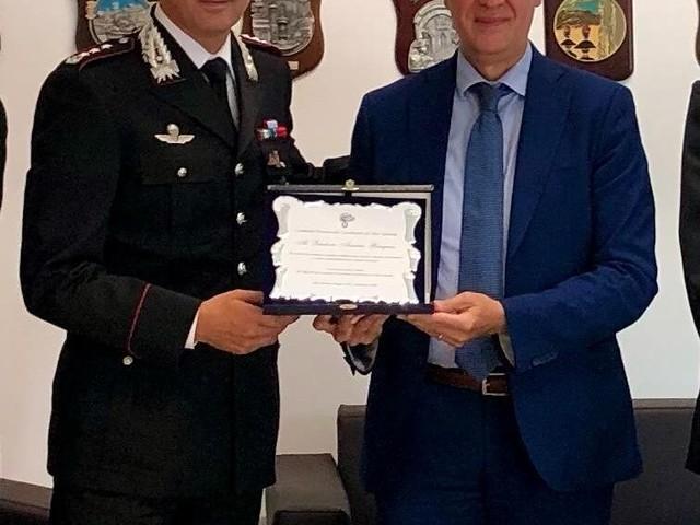 Vibo, il saluto del Questore Gargano al comando provinciale dei carabinieri