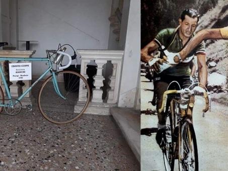 """Ladri di bici: rubata la """"Bianchi"""" di Fausto Coppi usata alla Parigi Roubaix del 1948"""