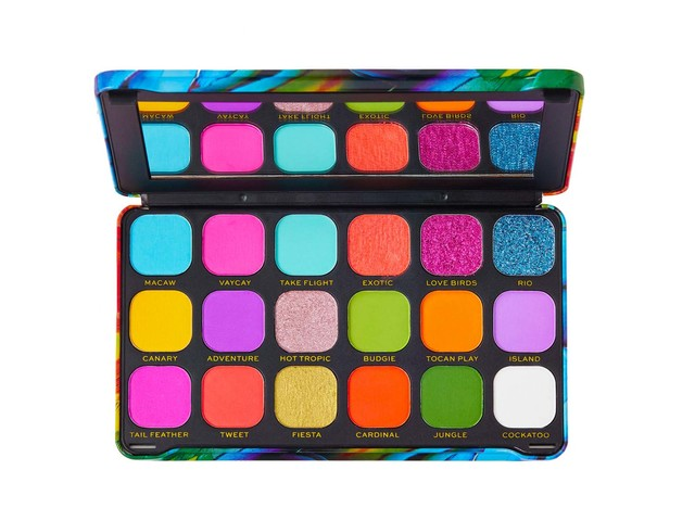 Recensione Palette Makeup Revolution Forever Flawless Shadow Palette Birds Of Paradise