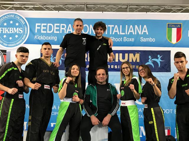 Kickboxing, la palestra fitness&dance di Cagnano Varano brilla sui podi di Rimini